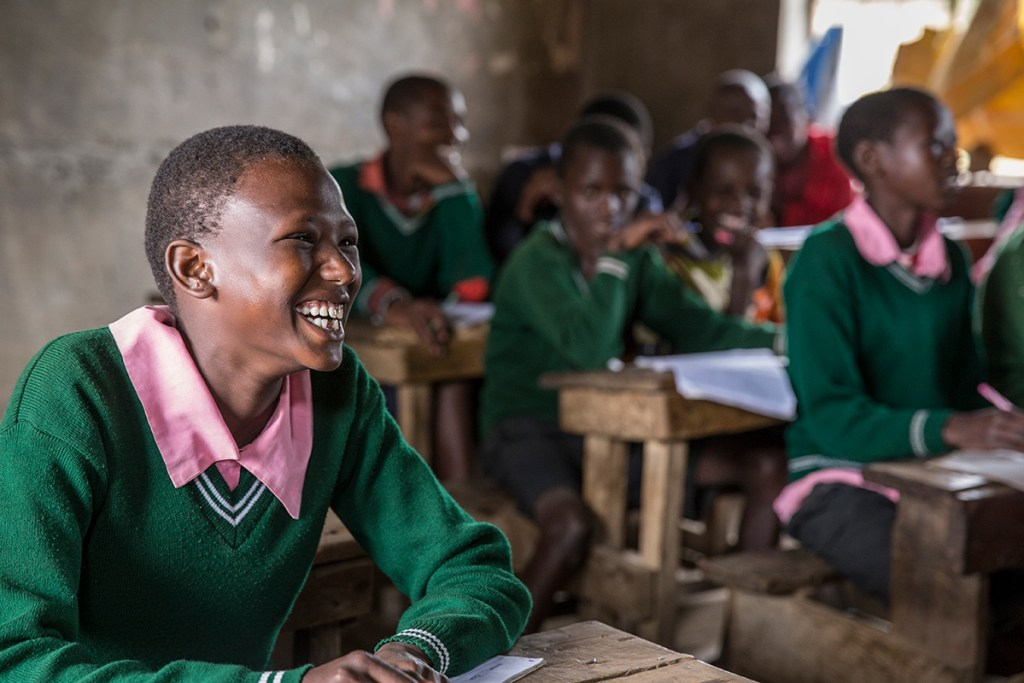 Eunice's children can now attend schools like this one!
