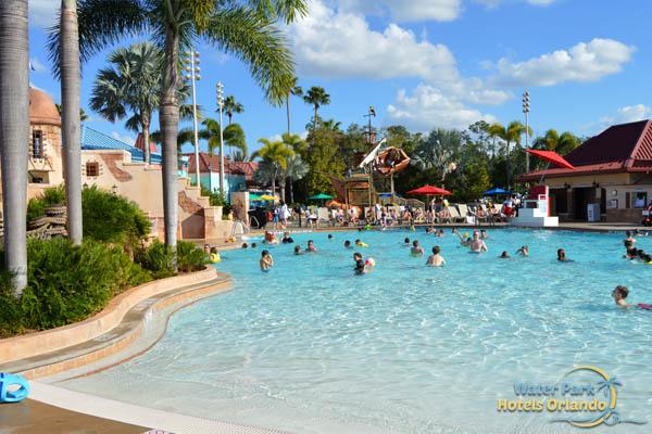 Disney S Caribbean Beach Resort Pool Water Slides Zero
