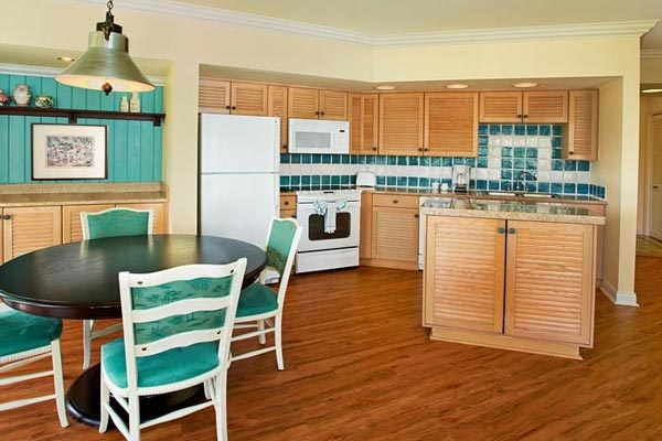 View of a Kitchen at one of the Villas at Disney Old Key West Resort 600