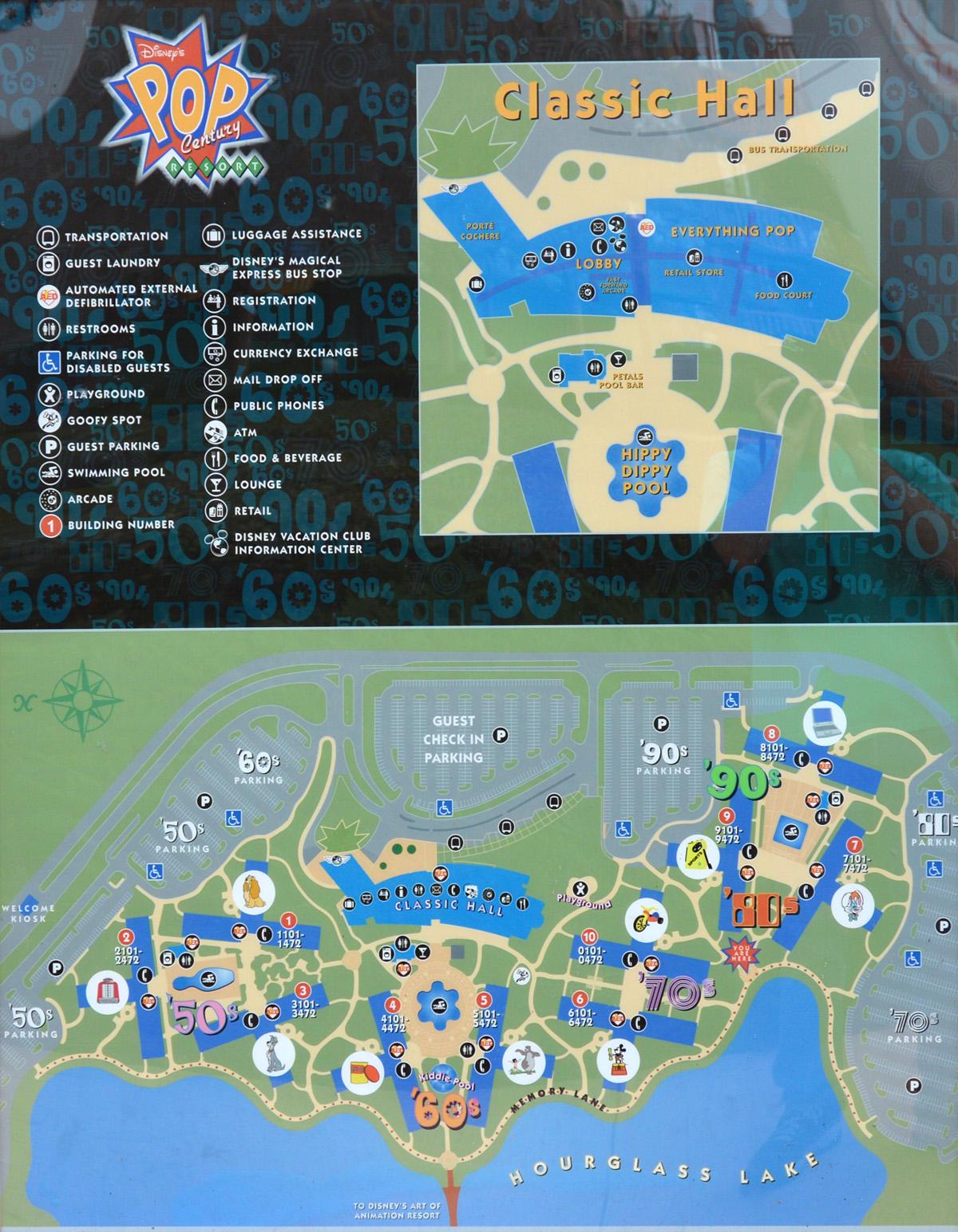 Pop Century Resort Map : century, resort, Disney, Century, Resort