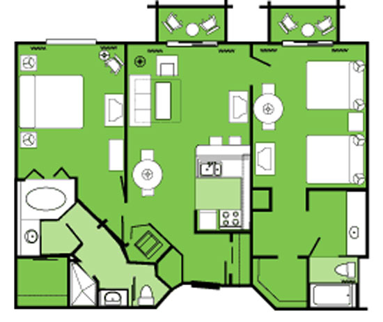 Disney Beach Club 2 Bedroom Suite Floor Plan Www