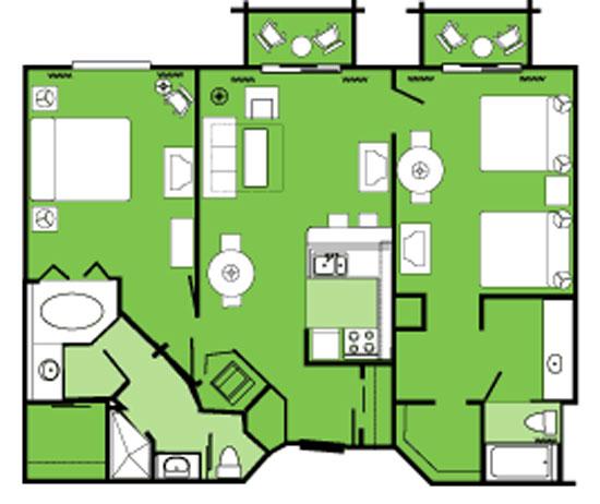 Disney 2 Bedroom Villas on Disney Old Key West Resort Floor Plans