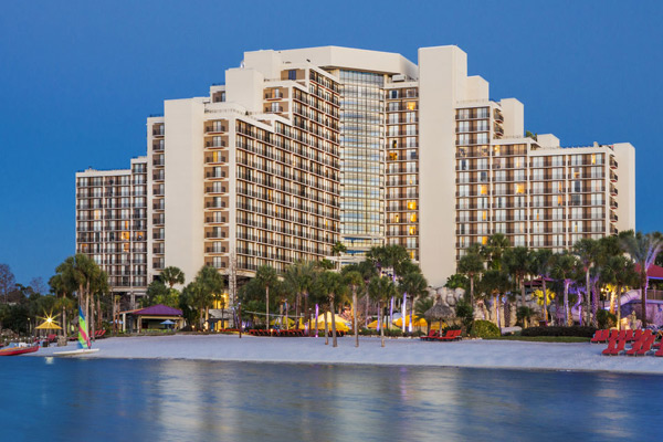 Hyatt Regency Grand Cypress in Orlando Fl view from the lake overlooking the beach 600