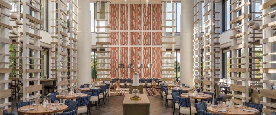 View of the Indoor Dining at the Lakehouse Restaurant at the Hyatt Regency Grand Cypress in Orlando Fl 960