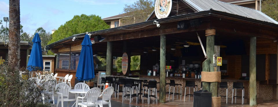 Poolside Bar and Restaurant Shipwreck Sally's at Liki Tiki Village Resort in Orlando Fl 960
