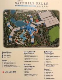 Loews Resort Sapphire Falls Map