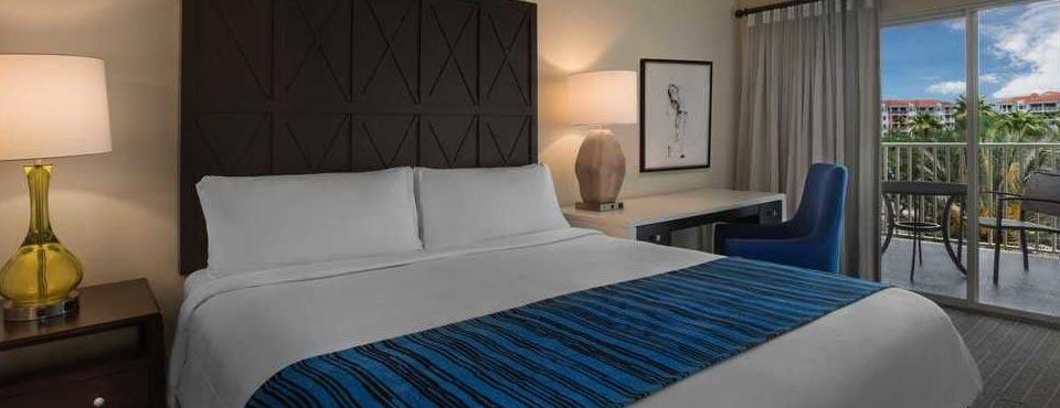 1 Bedroom Villa Master Bedroom with King Bed and Sleeper Sofa at the Marriott Grande Vista Resort in Orlando 960