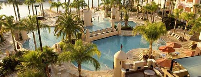 View of the Plaza Del Sol Pool from the Balcony of the Marriott Grande Vista Resort in Orlando 650