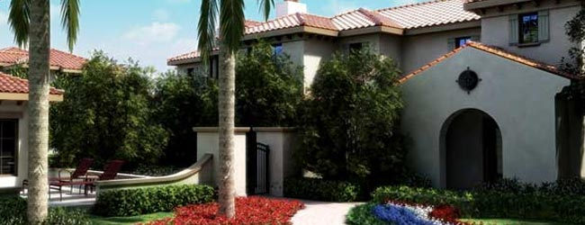 View of the Exterior of a Townhome at the Marriott Lakeshore Reserve in Orlando Fl 650