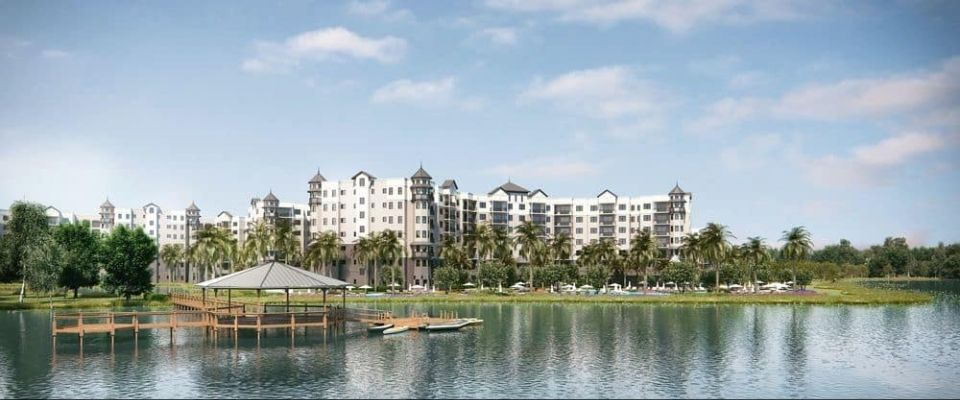 View of The Grove Resort in Orlando from the Lake 960