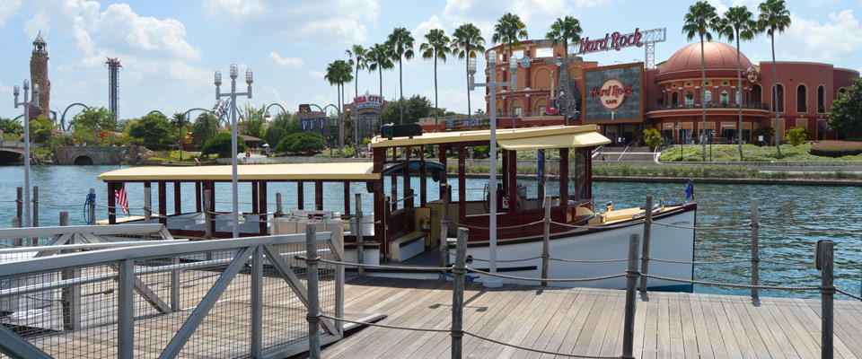 Universal Orlando Water Taxi across from the Universal Theme Parks 960