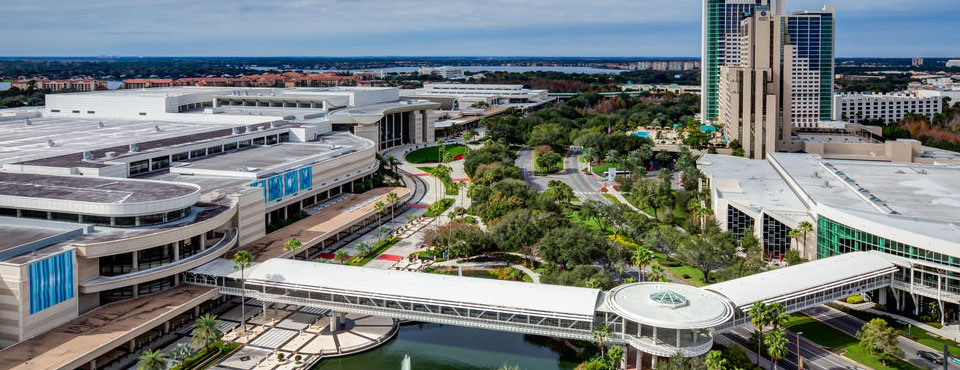 View of the Orlando Convention Center on International Drive in Orlando Fl wide