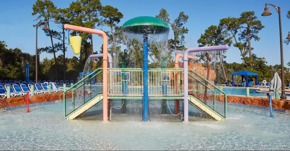 Kids water splash park at Wyndham Garden Disney Springs