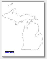 Printable Map Of Great Lakes : printable, great, lakes, Blank, Great, Lakes