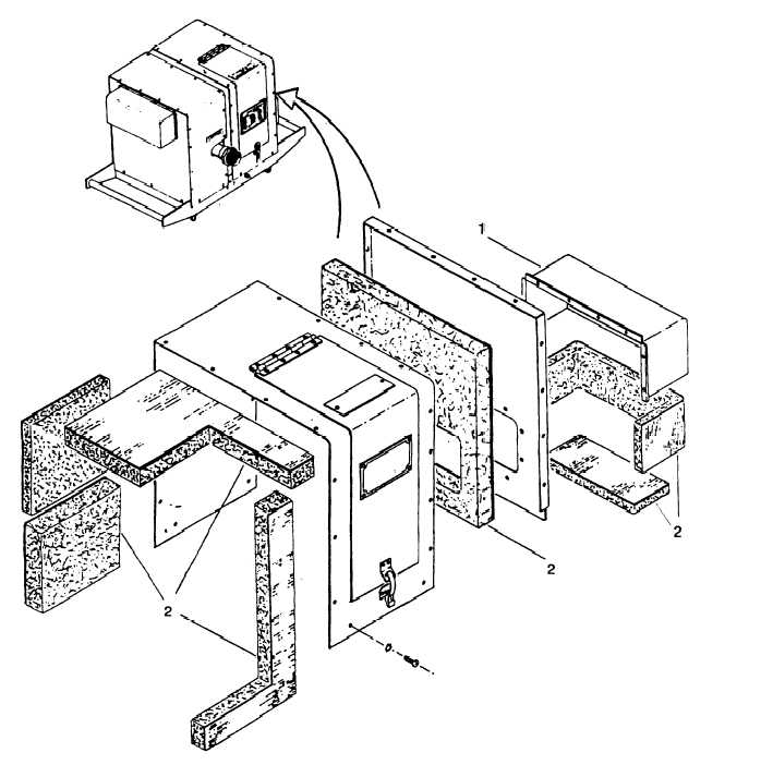 Figure 4-1. Inlet Air Sound Enclosure Assembly
