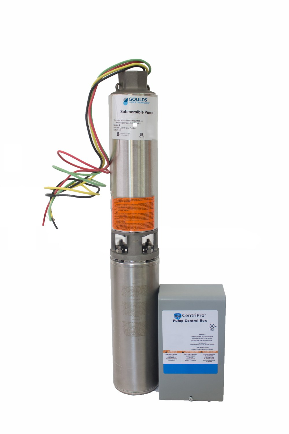 medium resolution of goulds 10gs05412c 10gpm 1 2hp 230v 3 wire submersible well pump