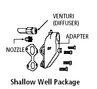 Goulds Pumps FH5H Shallow well adapter kit for J05N, J5 1