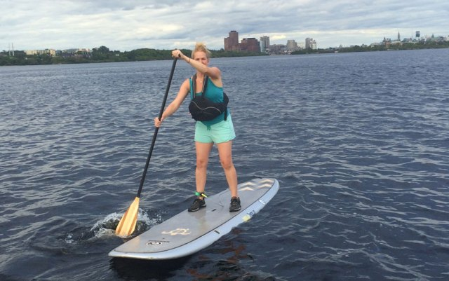 Showing my paddling prowess. Ottawa-Hull downtown peaking out behind me.