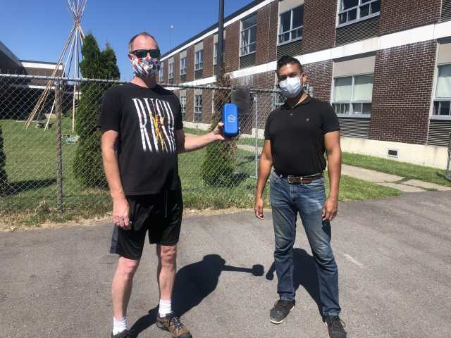 Some of our resilient testers wearing masks