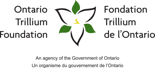 Ontario Trillium Foundation logo. The Ontario Trillium Foundation is generously helping us become more financially resilient!