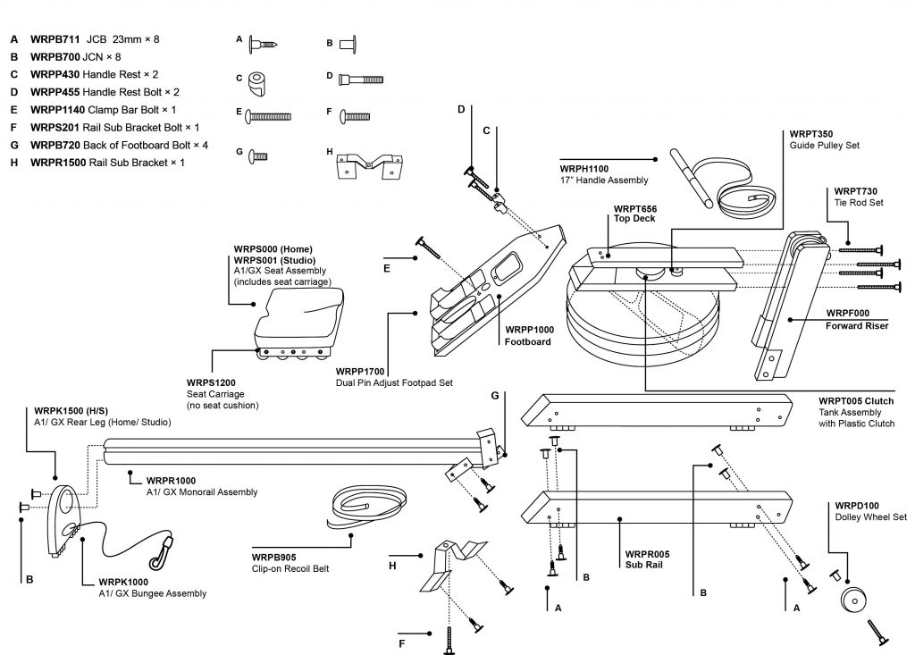 Drawings ~ WaterRower Service & Support