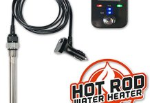 RinseKit Hot Rod Water Heater Accessory for Portable Shower Sprayer on All Models