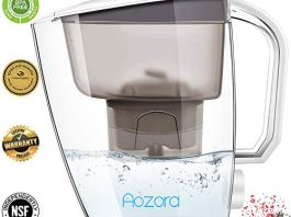 Aozora Premium Alkaline Water Filter Pitcher【BPA FREE】 Ionizer with Activated Carbon Healthy Mineralized Minutes【PH 8.5-9.5】 18 Cups Capacity – 2019
