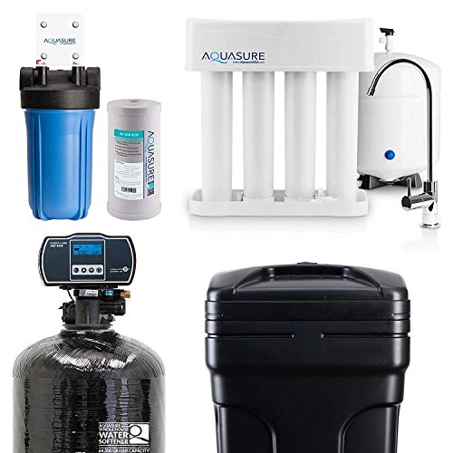 Aquasure Whole House Water Filtration Bundle w/Water Softener