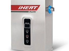 """iHeat Tankless S-14 240V 59A 14KW Stainless Steel Enclosure 7.2"""" by 11"""" by 3"""" 1/2""""CPT 36' AWG#6 Electric Water Heater, 7.5 lb"""