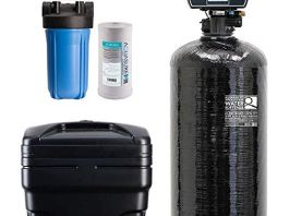"Aquasure Water Softener w/Aquatrol Digital Head and 10"" Sediment Dual Purpose Whole House Water Filter (64,000 Grains)"