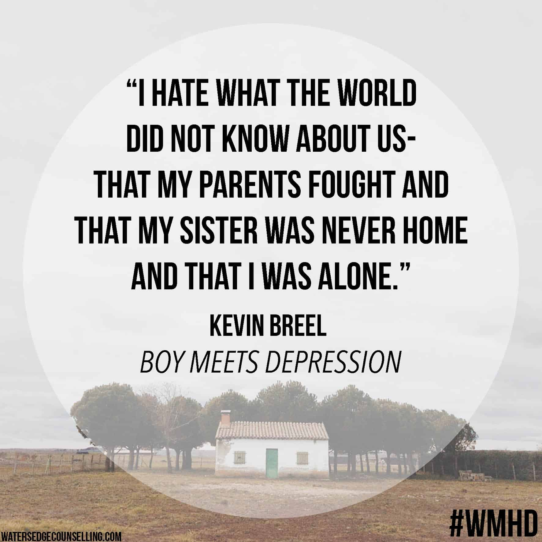 Depression Quote Boy Meets Depression