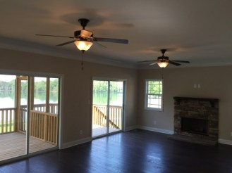 """This is the family room in the Cove Villa """"master up"""" floor plan. Tons of room to entertain."""