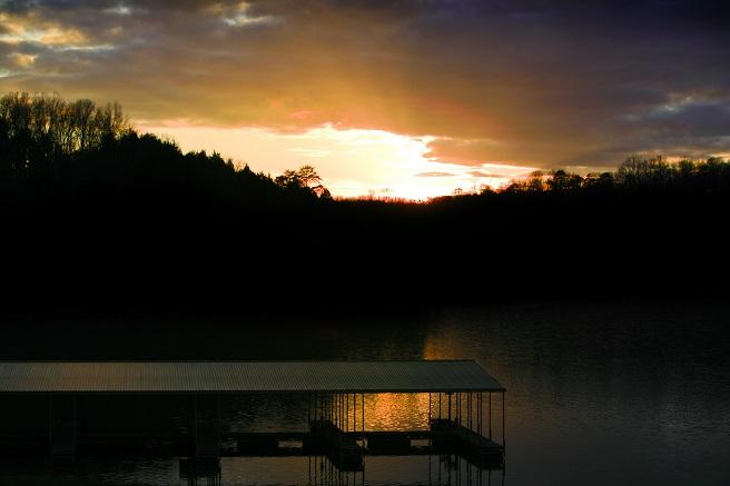 Sunset at Waterside Cove at Norris Lake
