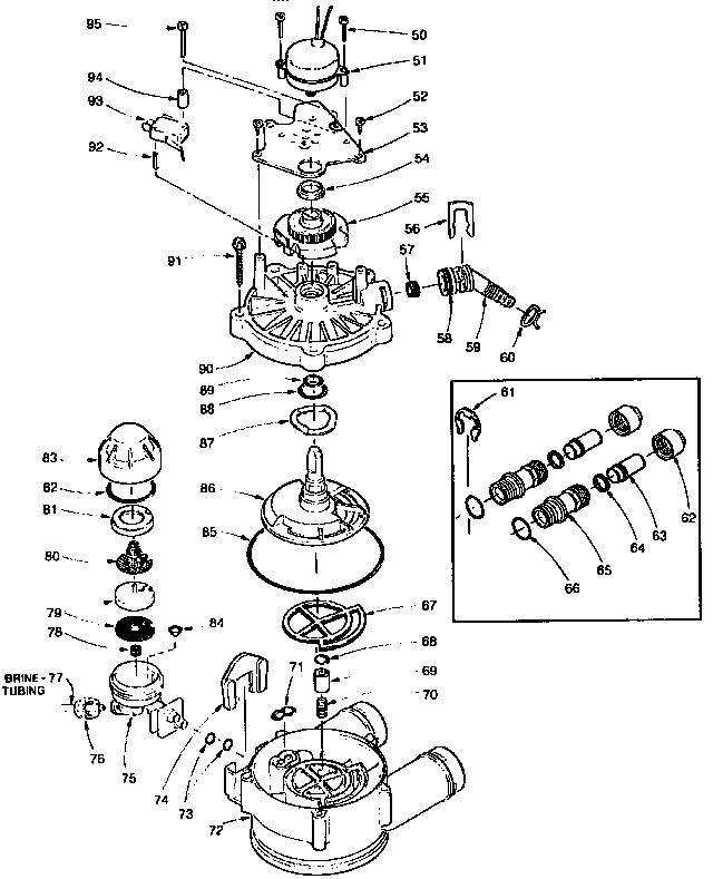 kinetico parts diagram harley turn signal visors rotor small valve - water softener super store