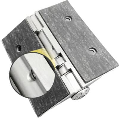 Glass door hinge - Special adjusting bolt