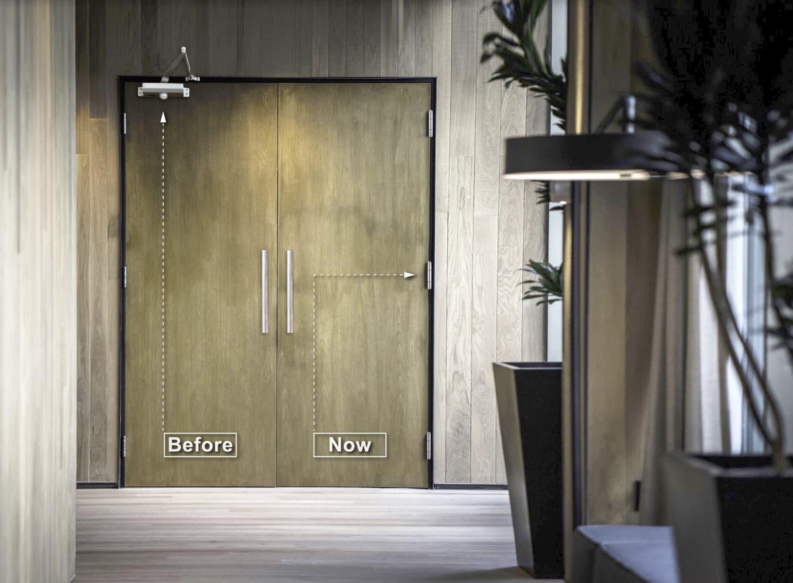 Arched Door Closer vs Closer Hinge Waterson