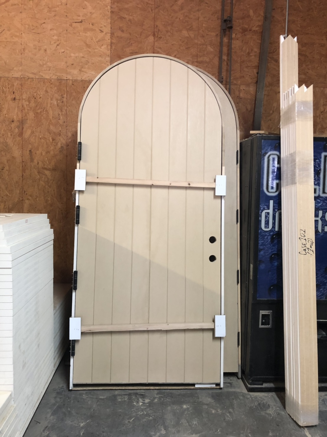 arched door closer