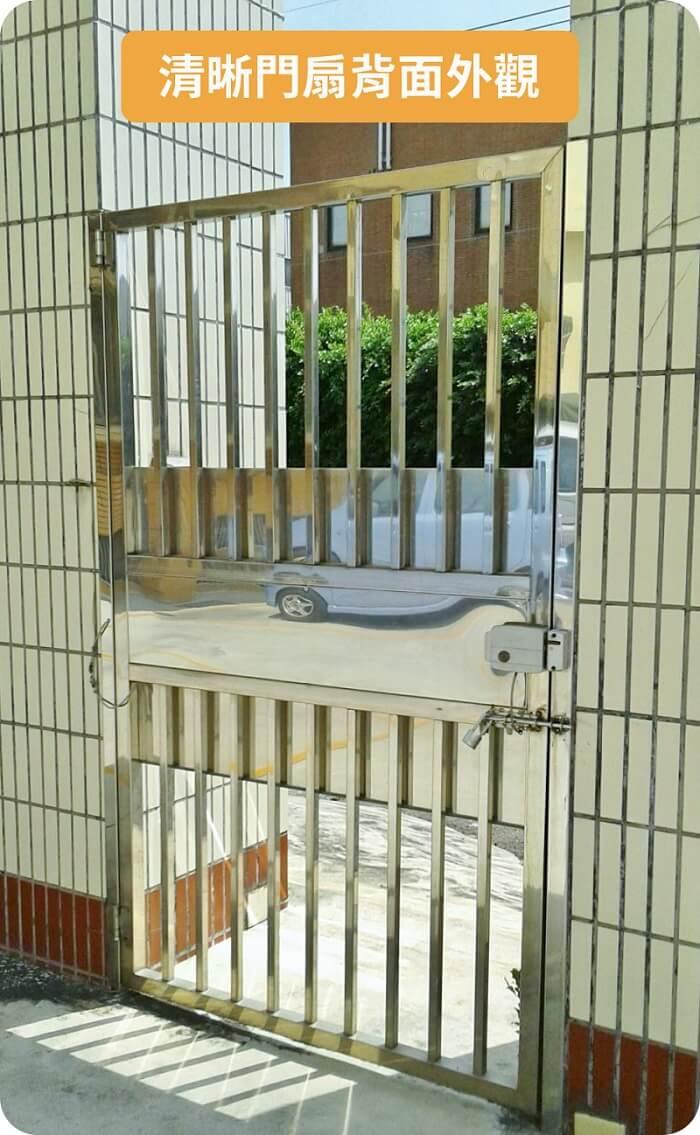 安裝說明-舊門扇背面