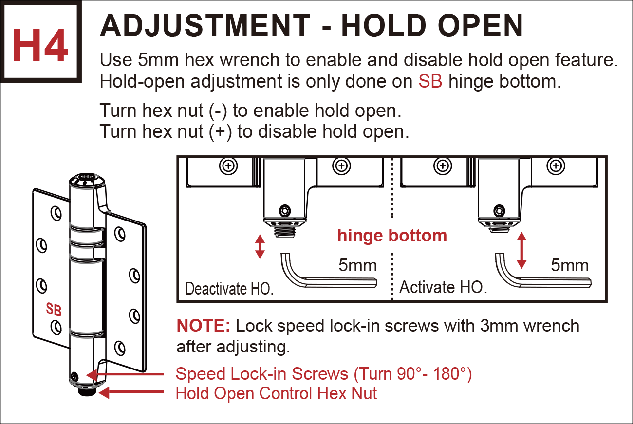H4 Hold-open