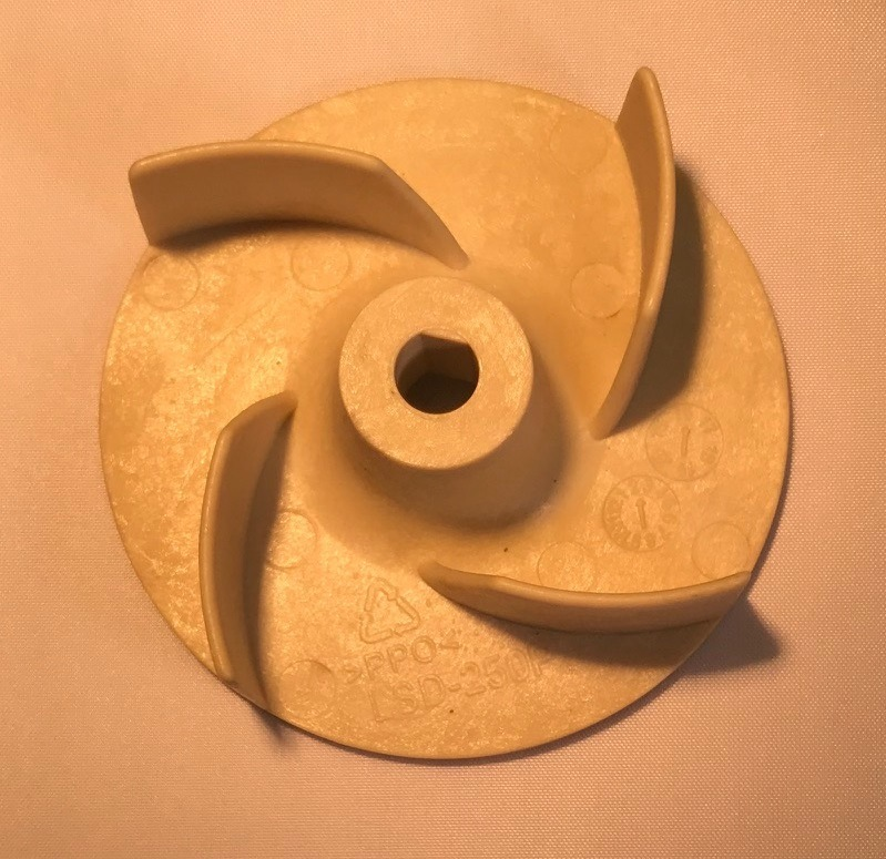 1 3 Hp Thermoplastic Sump Pump Replacement Impeller