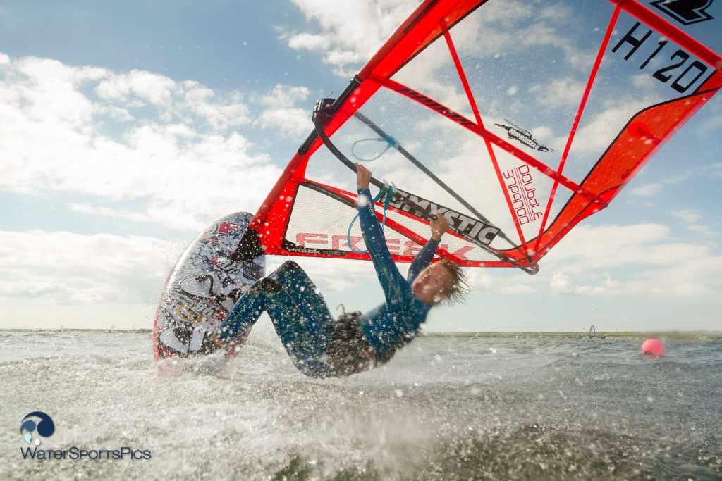 Rick Jendrusch (Mystic, Severne, F2, ChocoFins, Doubdle, Zeil-& Surfcentrum Brouwersdam) at Zeil- en Surfcentrum Brouwersdam, Ouddorp, The Netherlands. 24 May 2014.