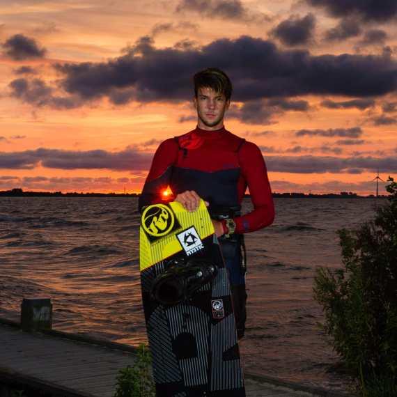 Sunset portrait Jerrie van de Kop