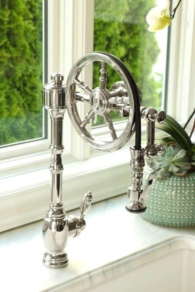 single kitchen faucet country chair cushions waterstone wheel pulldown - 5100