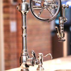 Single Handle Pulldown Kitchen Faucet Premade Islands Waterstone Wheel - 5100