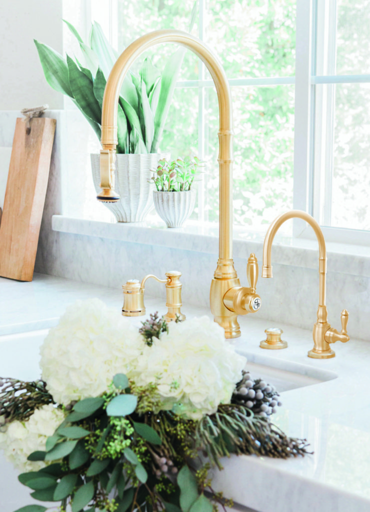 luxury kitchen faucets easy backsplash waterstone high end made in the usa plp pulldown faucet 5600 satin brass