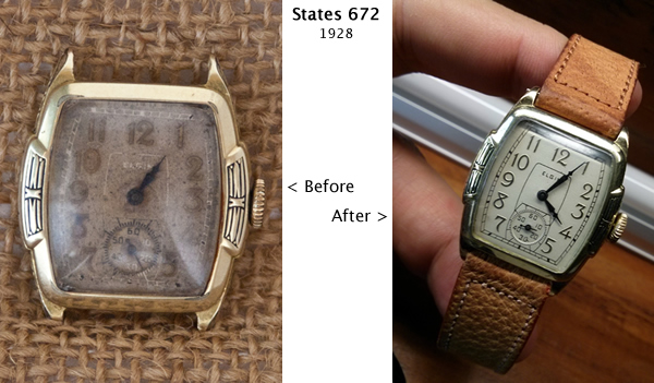 Elgin States 672 restoration
