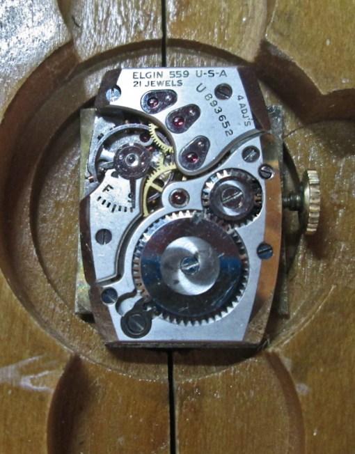 vintage Elgin 559 watch movement