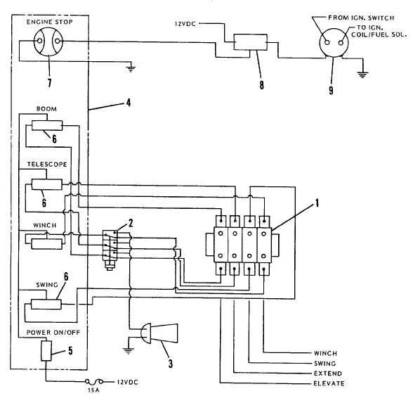 Figure 5-16. Electrical Schematic, Crane
