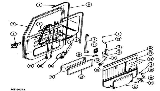 Fig. 6. Door Hardware, Trim and Internal Components