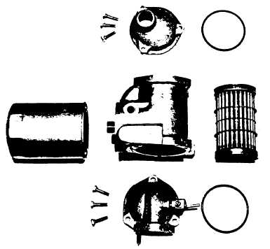 Fig. M.10. Exploded View of Lubricating Oil Cooler and